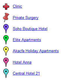 List of Accomodation